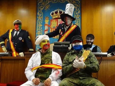 Els Enfarinats in the town hall of Ibi